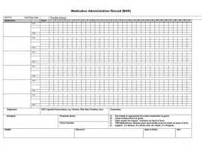 Mar Template Nursing printable medication administration record medication administration record mar get