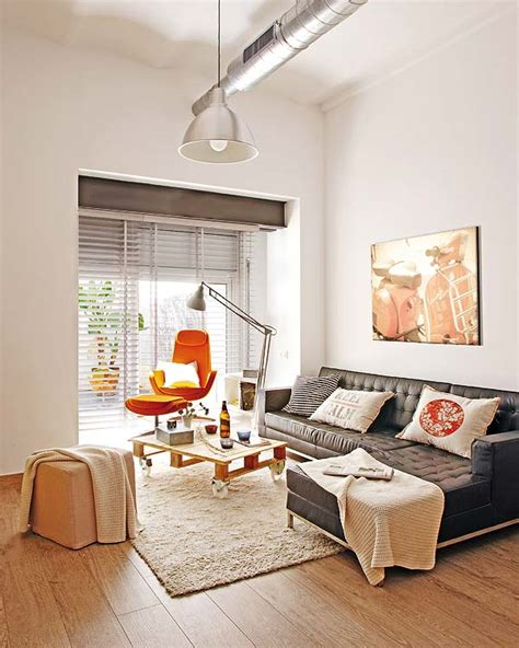small loft small apartment redecoration in barcelona for young couple