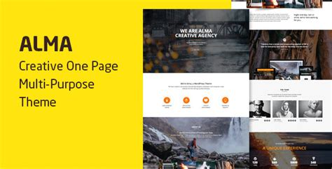 One Page Pro Multi Purpose Onepage Theme V1 0 2 alma v1 1 19 parallax one page multi purpose theme