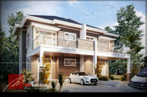 semi detached house designs proposed modern design semi detached house brunei property and construction portal