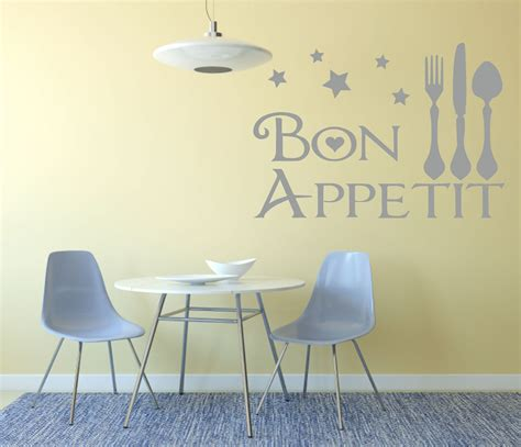 Dining Room Wall Decals Bon Appetit Wall Decal Kitchen Dining Room