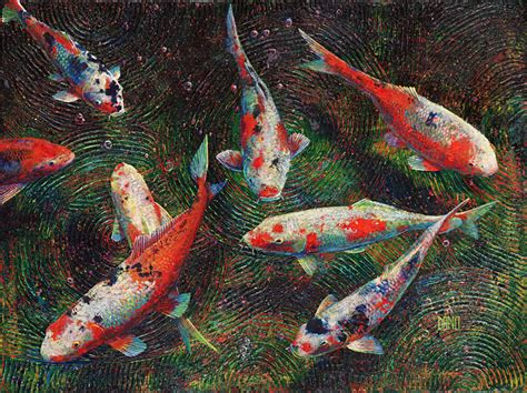 acrylic painting koi fish koi fish danocreative the personal site for daniel