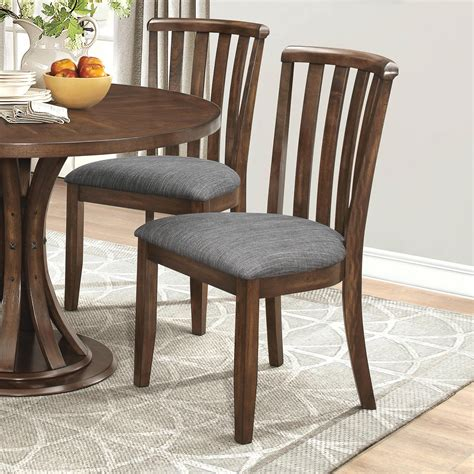 coaster dining chairs coaster prescott slat back dining chair with gray fabric