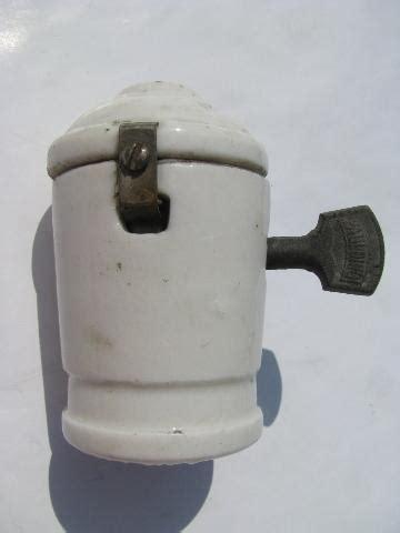 Lot Of Antique Porcelain Shell Electric Pendant Light Lamp