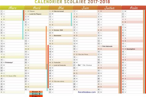 calendrier 2018 scolaire 28 images calendrier 2018
