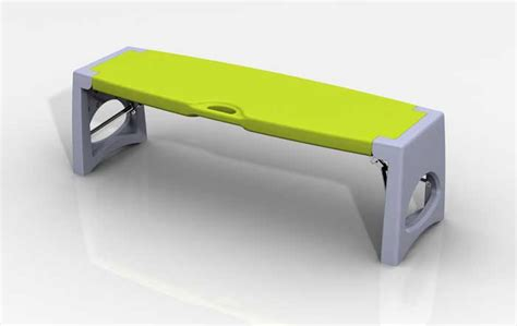 soccer portable bench blow molded sports bench jim hofman design