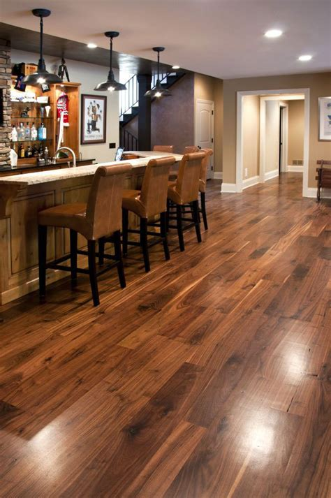 wood flooring in basement bar mancave area and the walnut flooring timberflooring mancave sydney