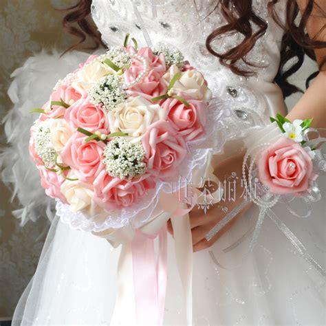 2016 bridal bridesmaid wedding bouquet cheap arrival