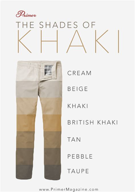 khaki colors indiana jones s go to the complete guide to khakis