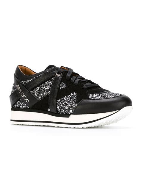 s jimmy choo sneakers jimmy choo sneakers in black lyst