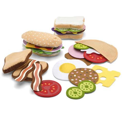 Sandwich Set N Doug felt food sandwich set for pretend play for children