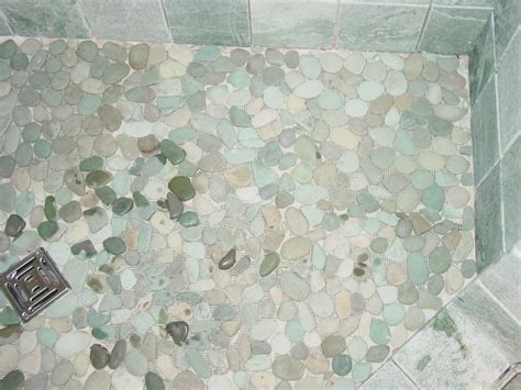 River Rock Shower Floor Problems by Pebble Shower Floors For Tiled Showers How To Install