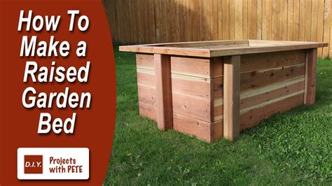 how to prepare a garden bed how to make a raised garden bed youtube
