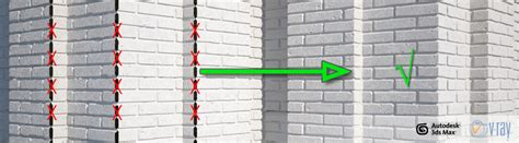 vray sketchup tiles tutorial correct corner displacement in vray with walls tiles