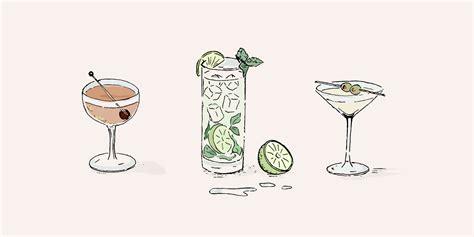 cocktail illustration 100 cocktail illustration vector set vintage