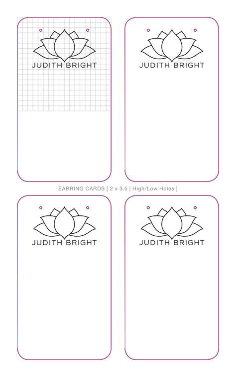earring display cards template letterpress with judith bright advocate marketing