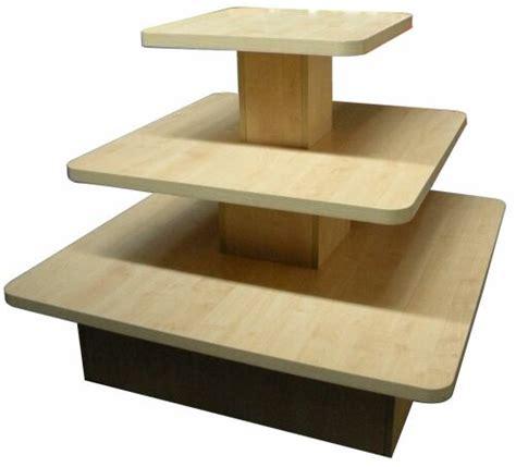 floor display table clothing store wood display unit