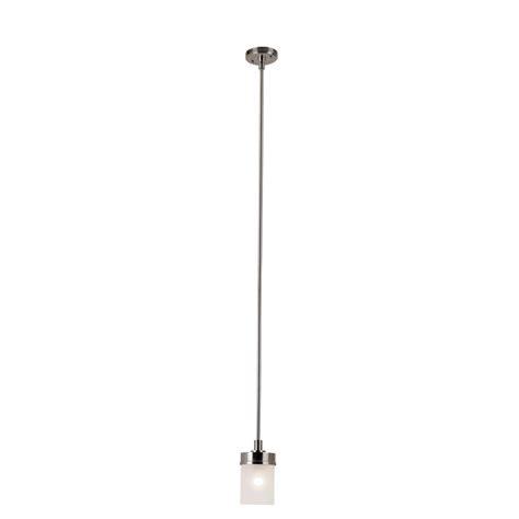 glass mini pendant light hton bay 1 light brushed nickel mini pendant with