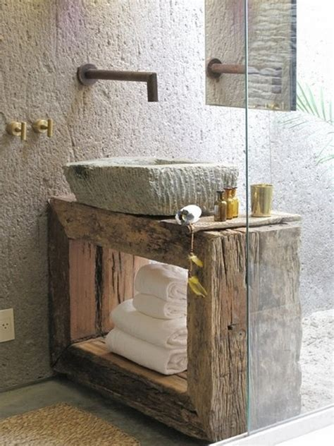 rustic bathroom 39 cool rustic bathroom designs digsdigs