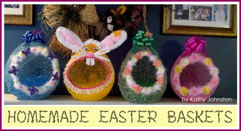 homemade easter basket ideas homemade easter baskets