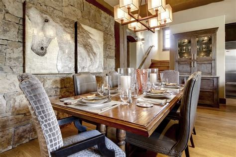 Rustic Dining Room Decor by Elegant Vanguard Furniture Method Other Metro Rustic