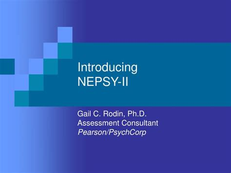 nepsy ii sle report ppt introducing nepsy ii powerpoint presentation id 515732