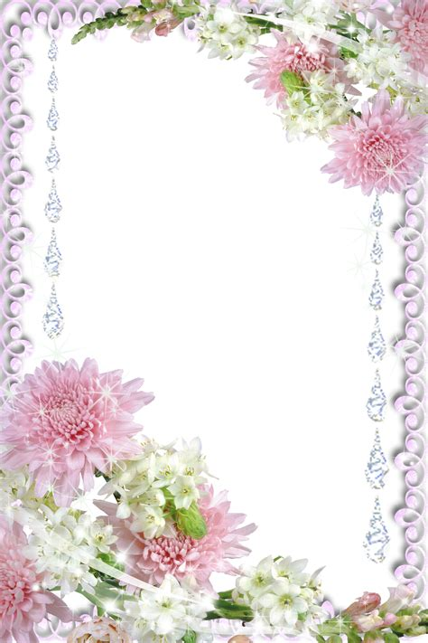 Wedding Borders And Frames Png by Real Flowers Transparent Png Photo Frame Borders