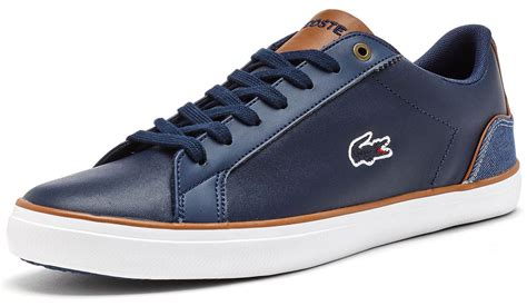Lacoste Lerond Trainers In White lacoste lerond bl 1 snm spm trainers in blue white