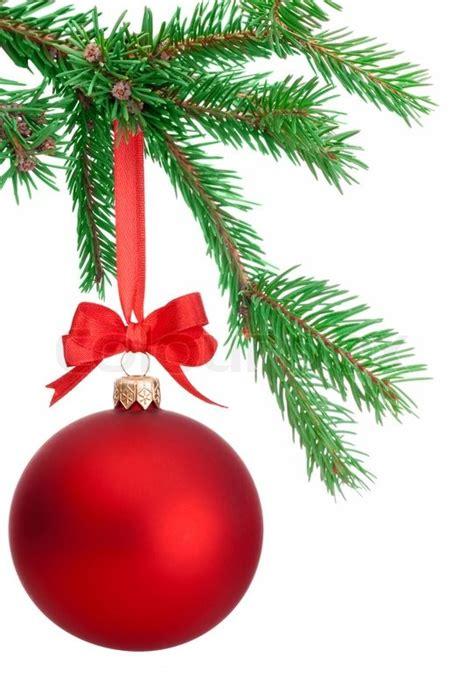 kugeln weihnachtsbaum weihnachten kugel h 228 ngt an einem fir ast isoliert auf