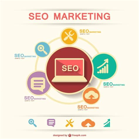 Seo Marketing Company seo marketing infographic vector free
