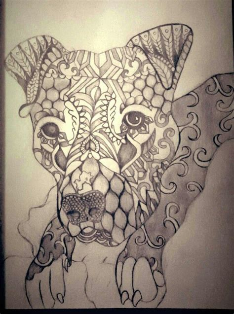 pitbull mandala art puppies mandala tattoo mandala art body art tattoos