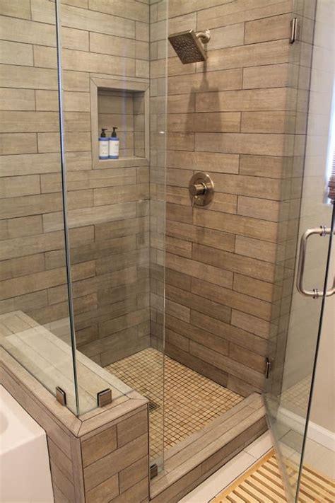 bathroom with wood tile 25 best ideas about wood tile shower on pinterest rustic shower shower ideas