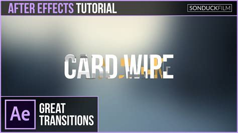 tutorial after effect transition after effects tutorial text to text card wipe transition