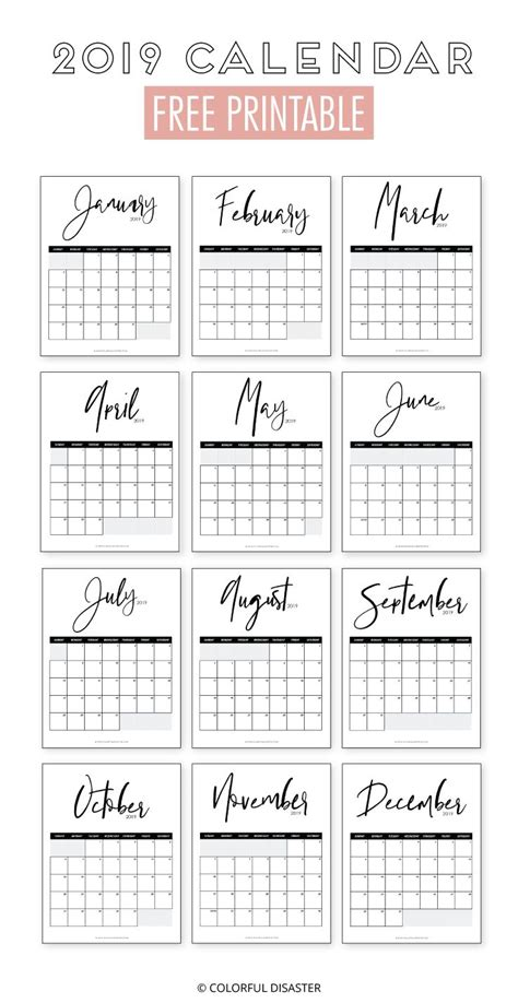 monthly printable calendar  monthly planner printable  printable calendar