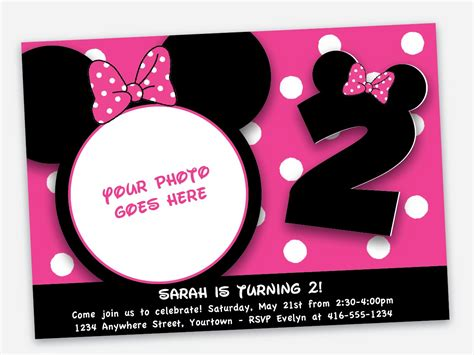 minnie mouse free invitations printable