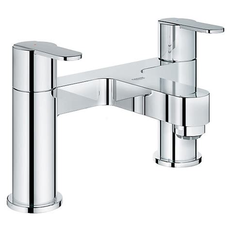 grohe taps bathroom grohe get bath filler chrome wickes co uk