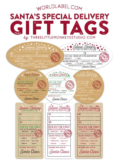 large printable gift tags from santa large printable gift tags from santa christmas fun zone