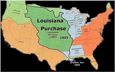 louisiana map before and after csmh history class the louisiana purchase