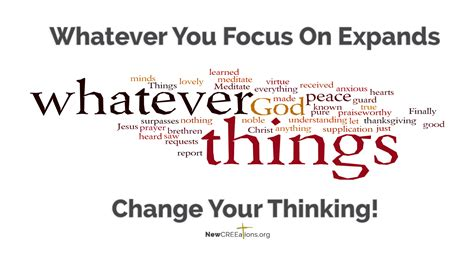 think on think on these things newcreeations