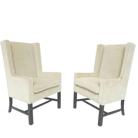 wingback armchairs pair of exceptional wingback armchairs in the style of