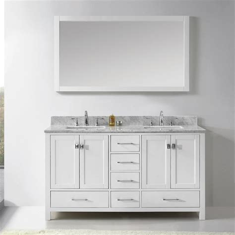 white bathroom double vanity shop virtu usa caroline avenue white undermount double