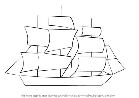 how to draw a navy boat learn how to draw a ship for kids boats and ships step