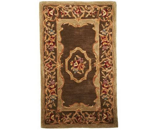 royal palace floral aubusson 3 x 5 handmade wool rug