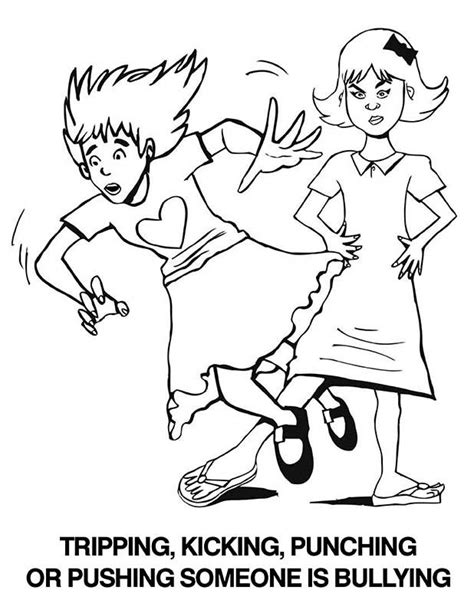anti bullying activities coloring pages