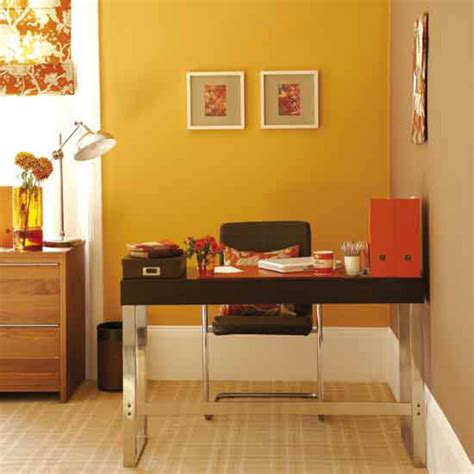 yellow home office space decorating ideas office design