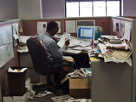 Cluttered Desk by A Desk Could Make You Productive Business Insider