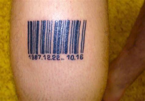 barcode tattoo with date 31 different barcode tattoo ideas creativefan