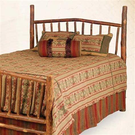 Log Bed Headboards by Sunburst Match Bed Headboard Only Hickory Log Furniture