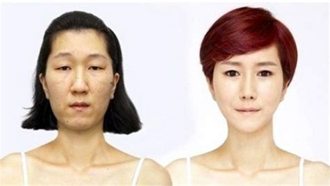 korean face shape type korean woman gets a whole new face shape 5 pics