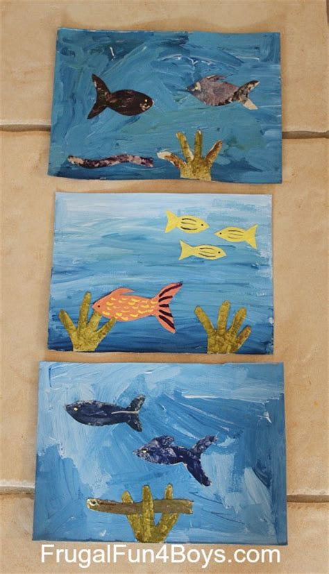 Pinterest Halloween Kids Crafts - under the sea artwork for kids